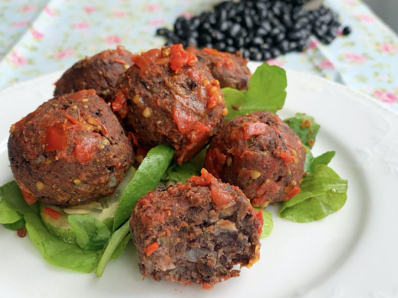 Vegan Black Bean Meatballs